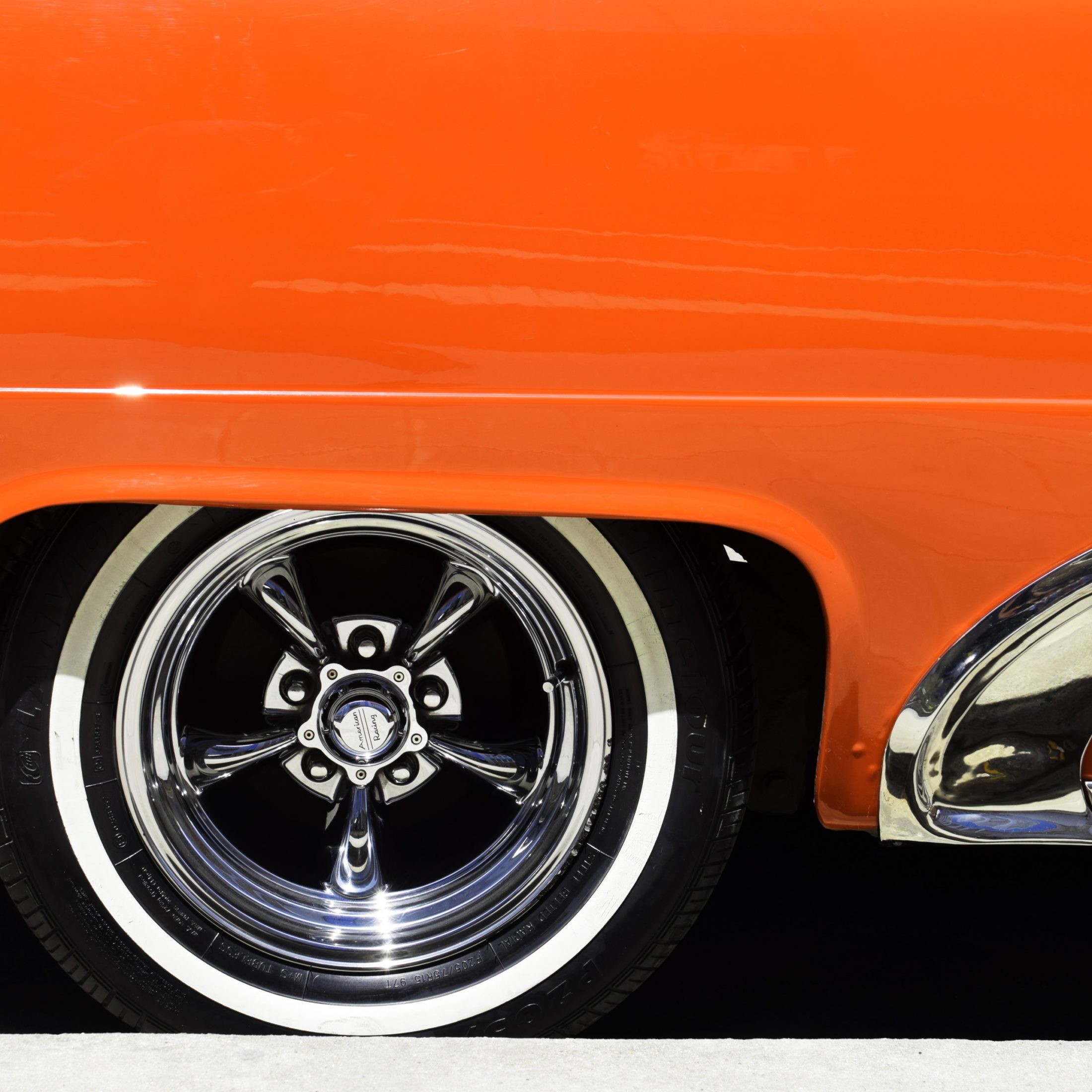 orange sports classic car